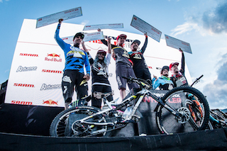 Crankworx Whistler Enduro World Series Podium