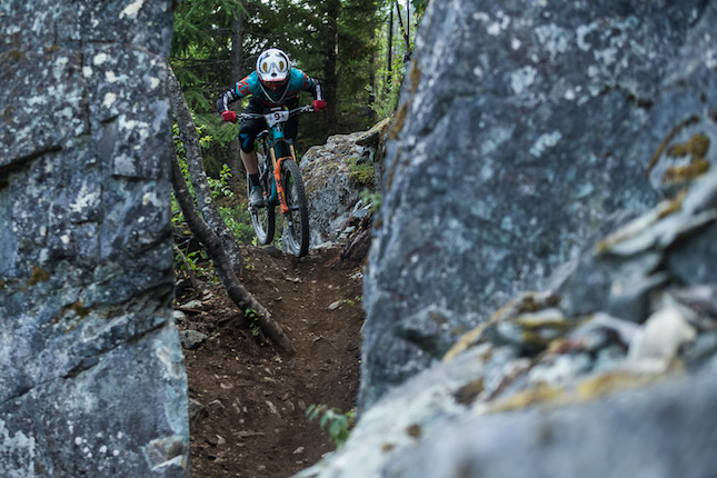 Whistler local Jesse Melamed on stage 4 of the Whistler Canadian open Enduro.